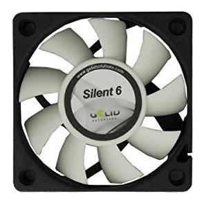60x60x15,5mm Gelid silent 6 blæser 12v