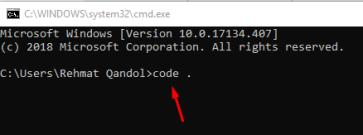 open vs code