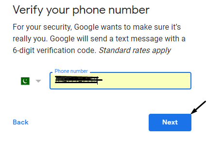 Verify your Number for apple id