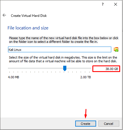File Location and Size