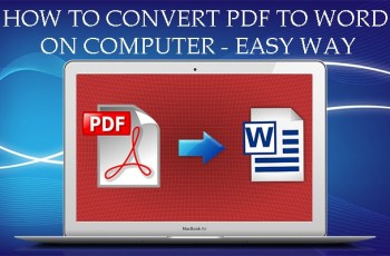 how to convert pdf to word on computer