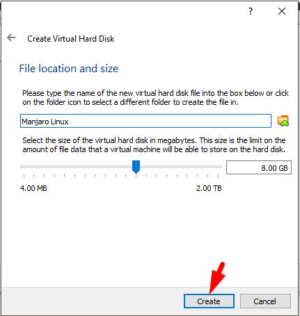 how to install manjaro linux on virtualbox