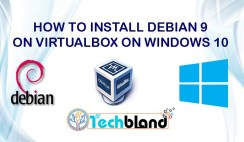 how to install debian 9 on virtualbox on windows