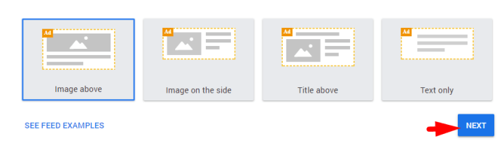 In-feed ads adsense layout