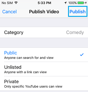 How to upload videos to youtube from iphone in 2019