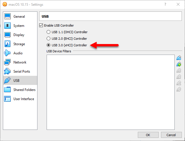 enable USB 3.0 to avoid error