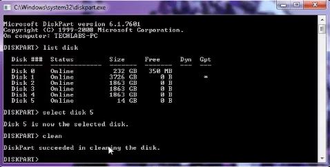 Format USB Via CMD Command