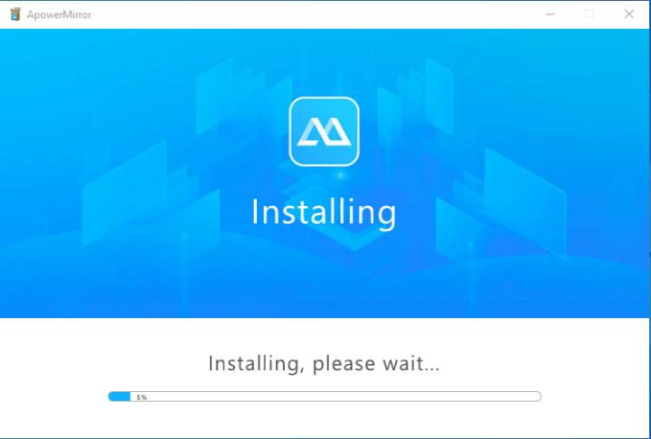Install APowerMirror App on PC