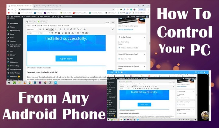 How to Control your PC from any Android Phone