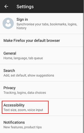 Make Firefox Mozilla text Bigger
