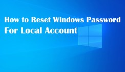 How to Reset Windows Password for Local Account
