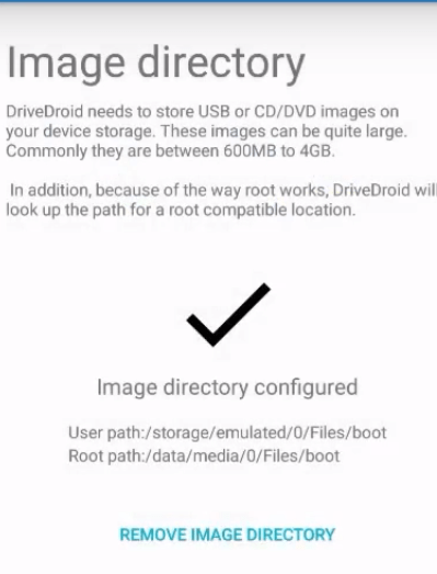 Save DriveDroid Image Directory
