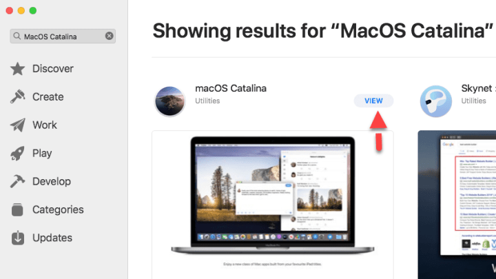 View MacOS Catalina on App Store