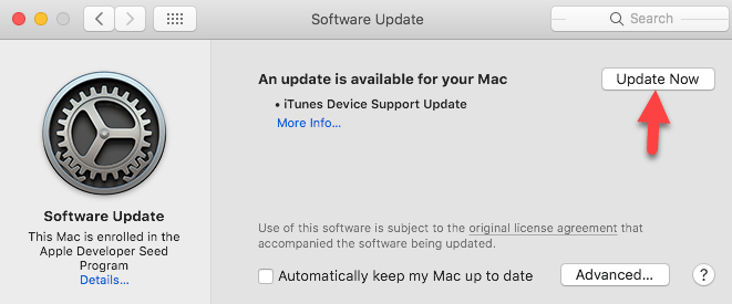 Upgrade MacOS Catalina on MacOS Mojave