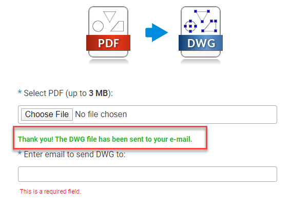 The Converted file Send to your Email
