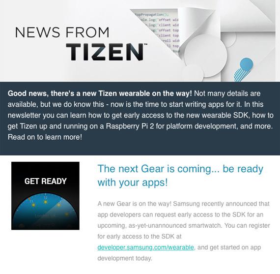 Tizen New Samsung Gear
