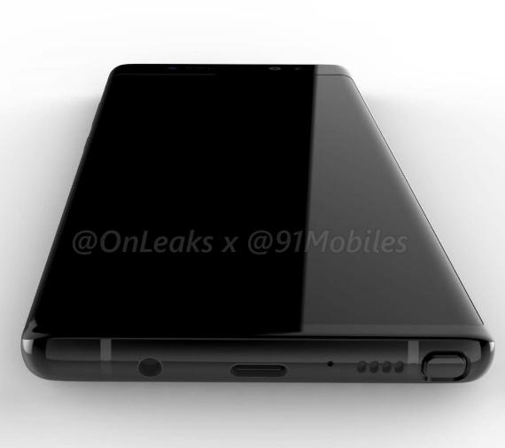 Galaxy Note 8 render