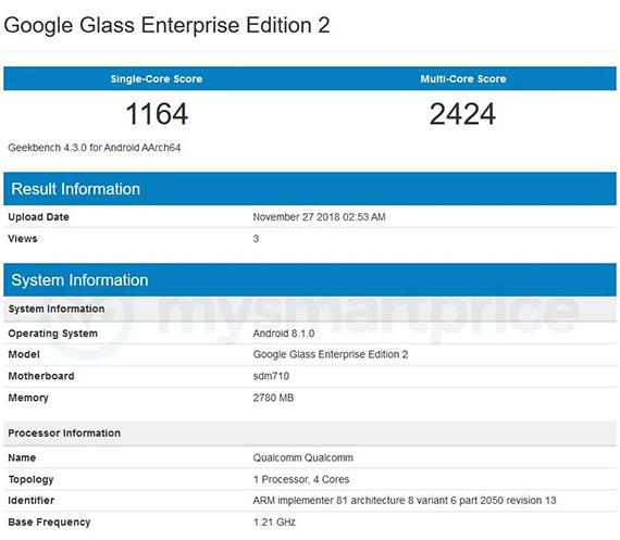 google glass2geekbench