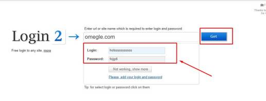 get free usernames and passwords of website
