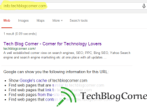 Use Info: Command in Google to know everything about your site links