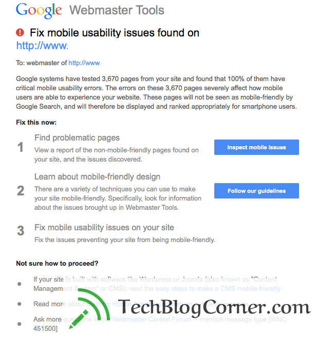 google-mobile-seo-errors-Techblogcorner