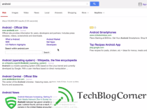Is Yahoo copying Google's search results design?