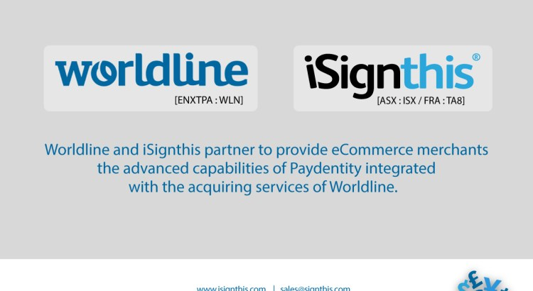 iSignthis Ltd (ASX : ISX / FRA : TA8): Worldline Partnership