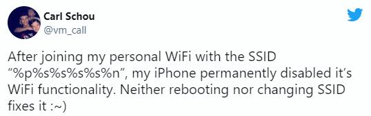 iPhone's wifi bug