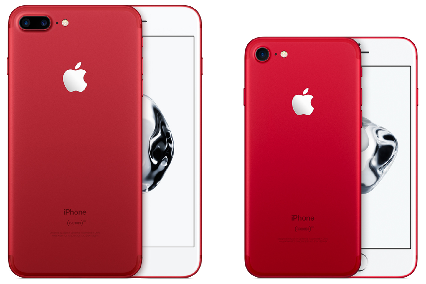 red iphone 7- 1