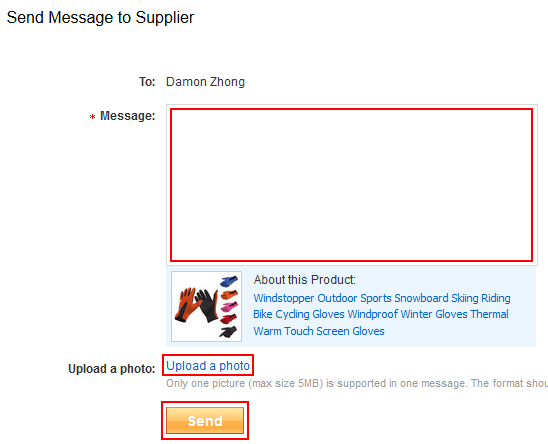 Retour - How to send a message to an AliExpress seller