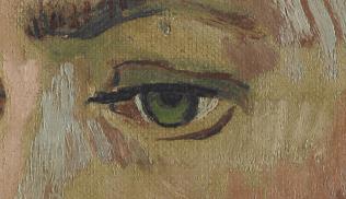 Portrait of Armand Roulin by Vincent van Gogh (Museum Boijmans Van Beuningen) [DETAIL]