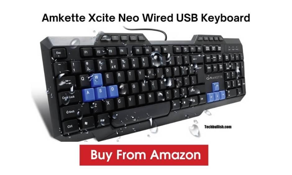 best keyboard under 500 rs-Amkette-Xcite-Neo-USB-Keyboard