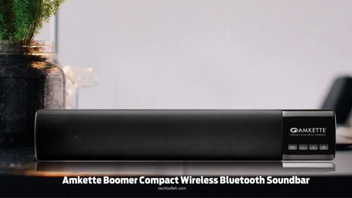 Amkette Boomer Compact Wireless Bluetooth Soundbar
