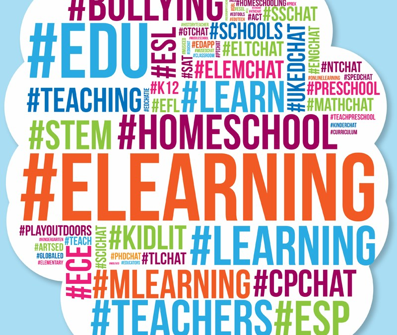 What are the most popular educational Twitter hashtags?