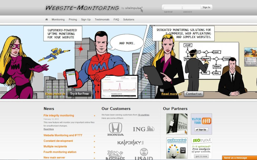 How can I rest at night knowing my web site is up? (for free)