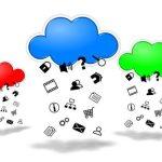 Cloud computing competition concept illustration
