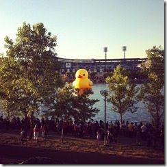 Pittsburghers are going quackers over a 40 foot Yellow Duck!