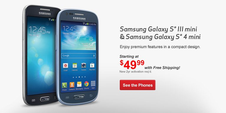 Samsung Galaxy S 4 mini and Galaxy S III mini Available Starting Today