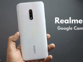 Realme X Google camera