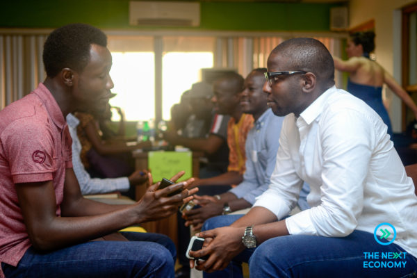 Chuka Ekeledo (Lead Strategist Astract9) helping out a participant during the 'Speed date an expert' session.