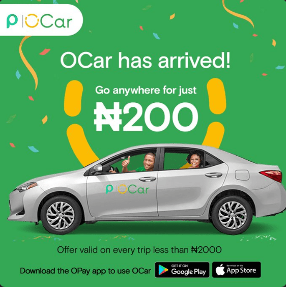 Opay continues all-out expansion with launch of OCar | TechCabal