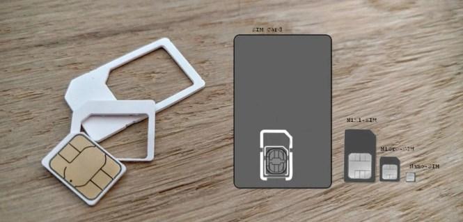 Diferentes tamaños de tarjeta SIM
