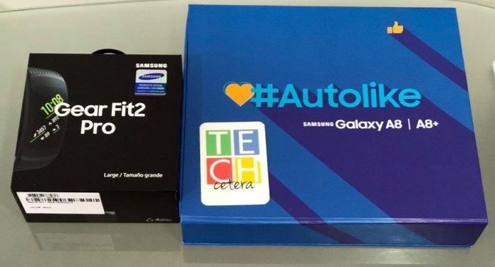 Primeras impresiones de Samsung Galaxy A8+ y Gear Fit2 Pro