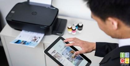 Impresora HP Ink Tank y su interfaz