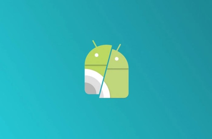 Icono de Android fragmentado