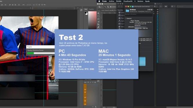 Test de Photoshop con más de 20 archivos al mismo tiempo