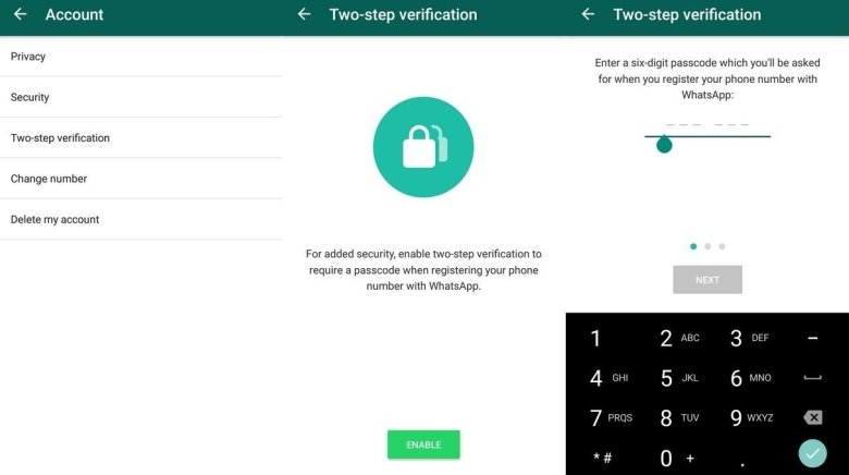 What is the use of whatsapp two step verification