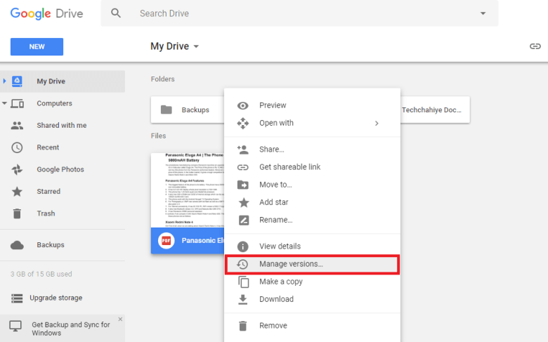 How to Hide File Inside Google Drive Snap 1