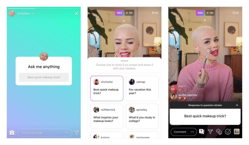 How to Ask Question on an Instagram Live Video
