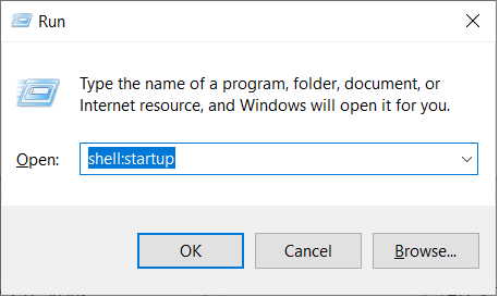 How to open Startup folder in Windows 10?